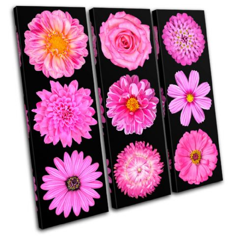 Pink purple Flowers Floral - 13-0408(00B)-TR11-LO